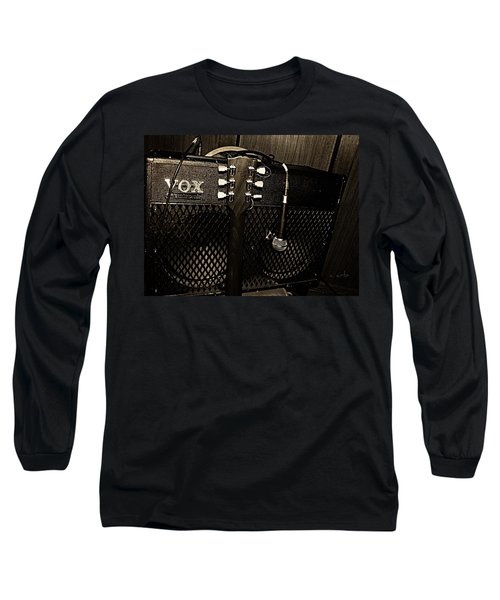 Vox Amp Long Sleeve T-Shirt by Chris Berry