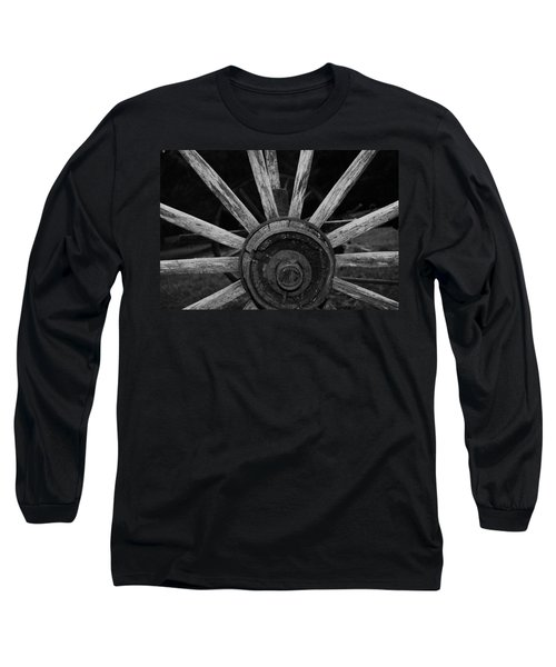 Wagon Wheel Long Sleeve T-Shirt by Eric Liller
