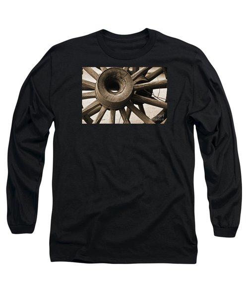 Wagon Wheel Hub Long Sleeve T-Shirt by Kirt Tisdale