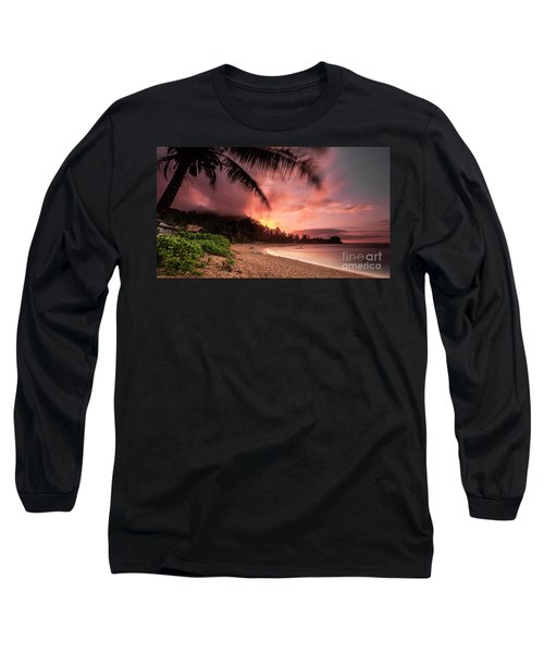 Wainiha Kauai Hawaii Bali Hai Sunset Long Sleeve T-Shirt