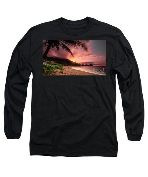 Wainiha Kauai Hawaii Bali Hai Sunset Long Sleeve T-Shirt