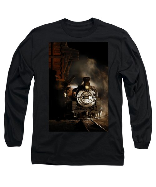Waiting For More Coal Long Sleeve T-Shirt by Ken Smith