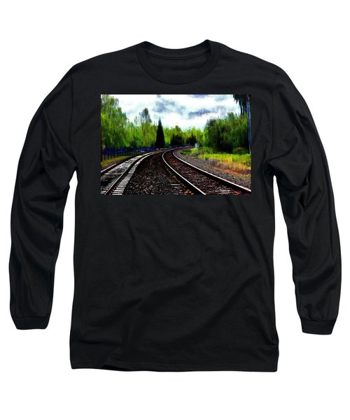 Long Sleeve T-Shirt featuring the mixed media Waiting On The Southern by Terence Morrissey