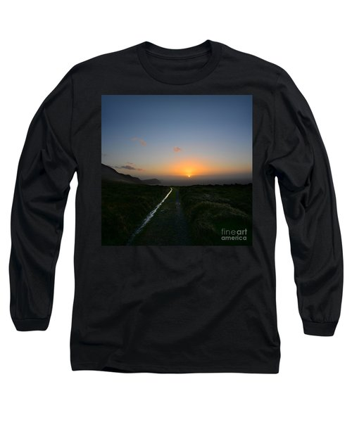 Walk Along The Coast At Eary Cushlin Long Sleeve T-Shirt