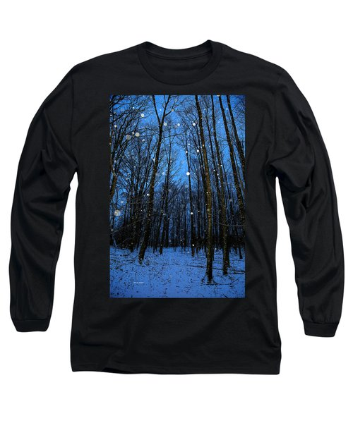 Walk In The Snowy Woods Long Sleeve T-Shirt