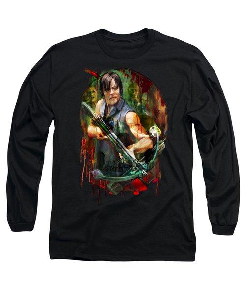 Walking Dead Mask Long Sleeve T-Shirt