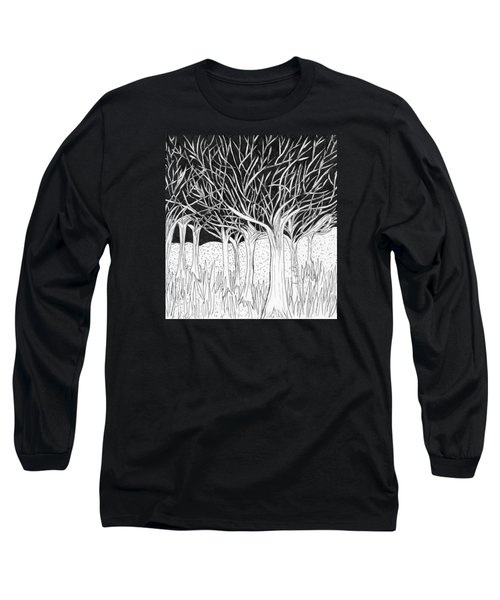Walking Out Of The Woods Long Sleeve T-Shirt by Lou Belcher