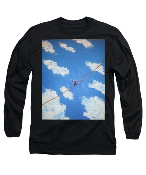 Walking The Line Long Sleeve T-Shirt by Thomas Blood