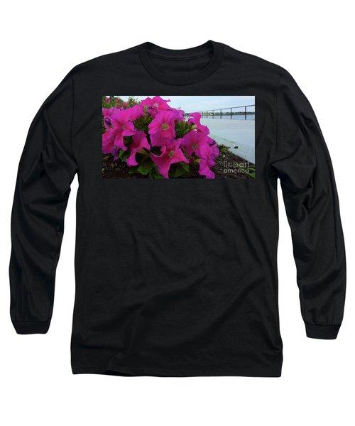 Walkway Petunias Long Sleeve T-Shirt