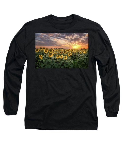 Wall Of Sunflowers Long Sleeve T-Shirt