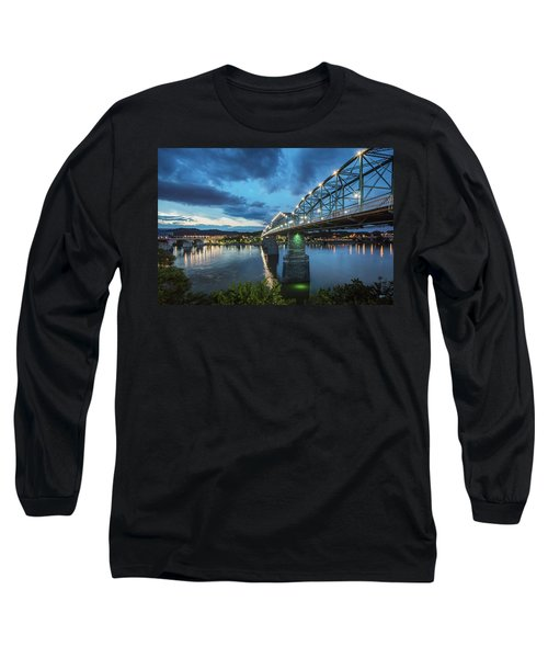 Walnut At Night Long Sleeve T-Shirt by Steven Llorca