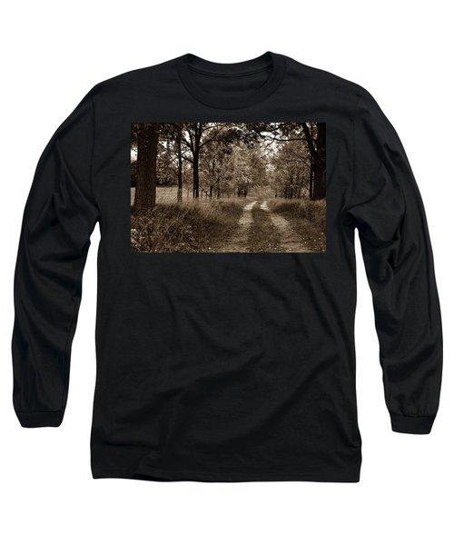 Walnut Lane Antiqued Long Sleeve T-Shirt
