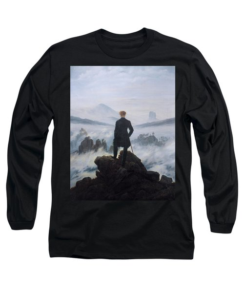 Wanderer Above The Sea Of Fog Long Sleeve T-Shirt