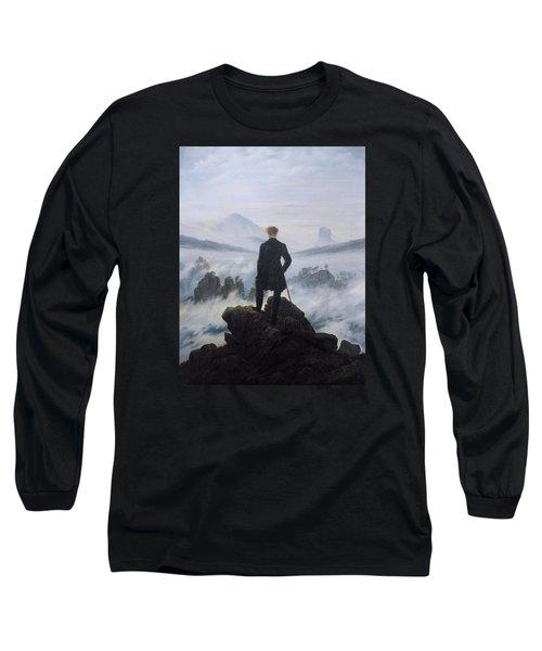 Wanderer Above The Sea Of Fog Long Sleeve T-Shirt
