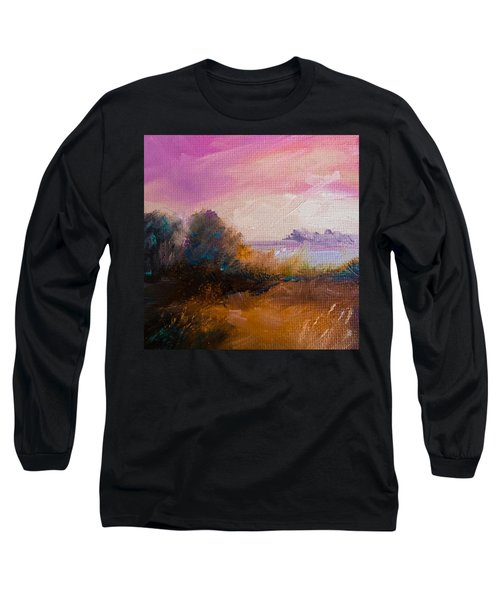 Warm Colorful Landscape Long Sleeve T-Shirt by Michele Carter