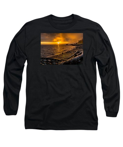 Warming Sunrise Commencement Bay Long Sleeve T-Shirt by Rob Green