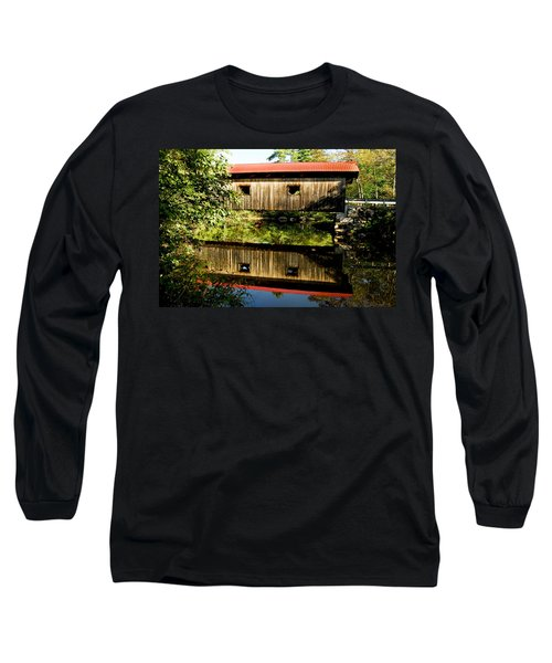 Warner Covered Bridge Long Sleeve T-Shirt by Greg Fortier