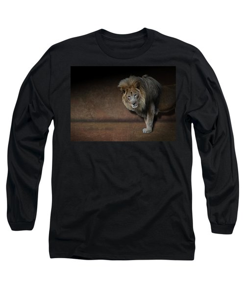Was That My Cue? - Lion On Stage Long Sleeve T-Shirt