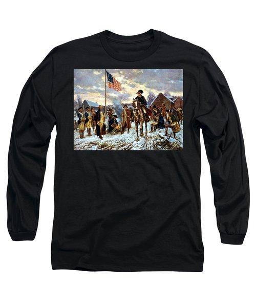 Washington At Valley Forge Long Sleeve T-Shirt