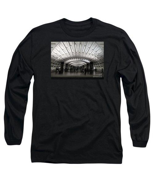 Washington Dc Metro Metro Center Stop Long Sleeve T-Shirt