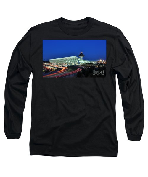Washington Dulles International Airport At Dusk Long Sleeve T-Shirt