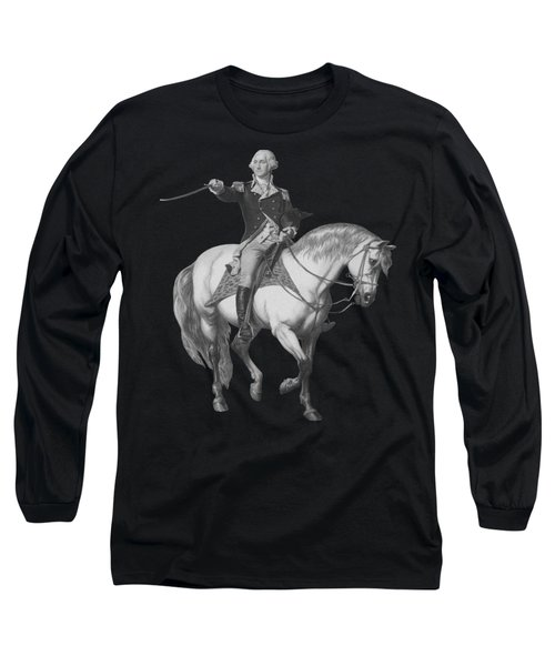 Washington Receiving A Salute At Trenton Long Sleeve T-Shirt by War Is Hell Store