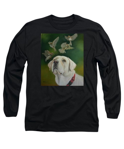 Long Sleeve T-Shirt featuring the painting Watching Birds by Ceci Watson