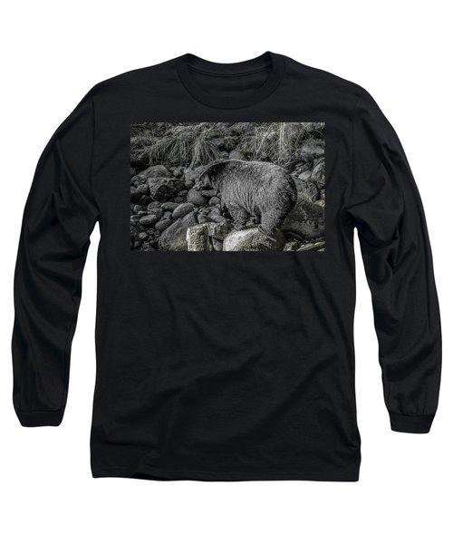 Watching Black Bear Long Sleeve T-Shirt