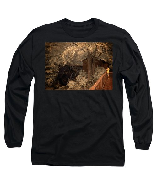 Watching The Wheels Long Sleeve T-Shirt
