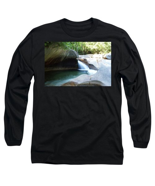 Long Sleeve T-Shirt featuring the photograph Water-carved Rock by Kerri Mortenson