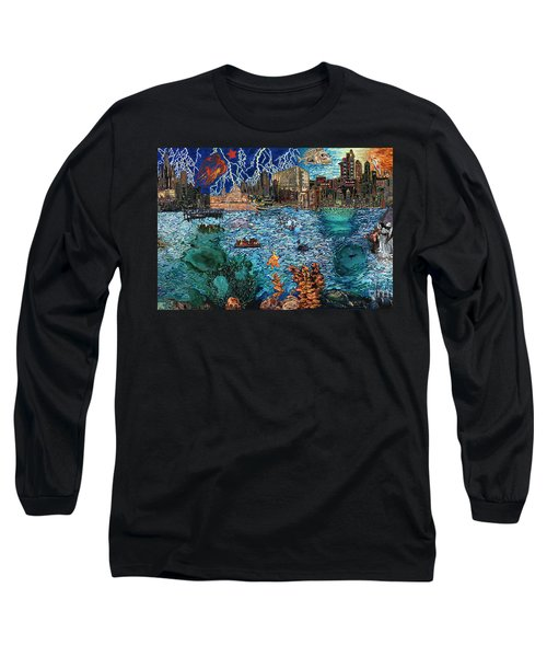 Water City Long Sleeve T-Shirt by Emily McLaughlin