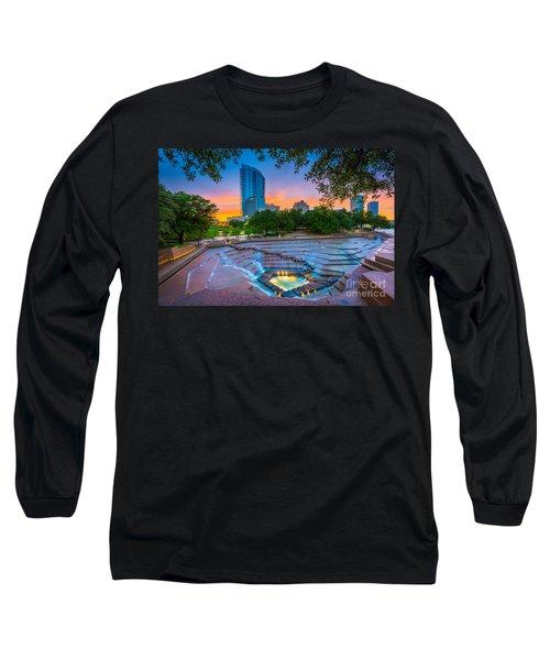 Water Gardens Sunset Long Sleeve T-Shirt