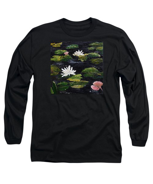 Water Lilies IIi Long Sleeve T-Shirt by Marilyn Zalatan