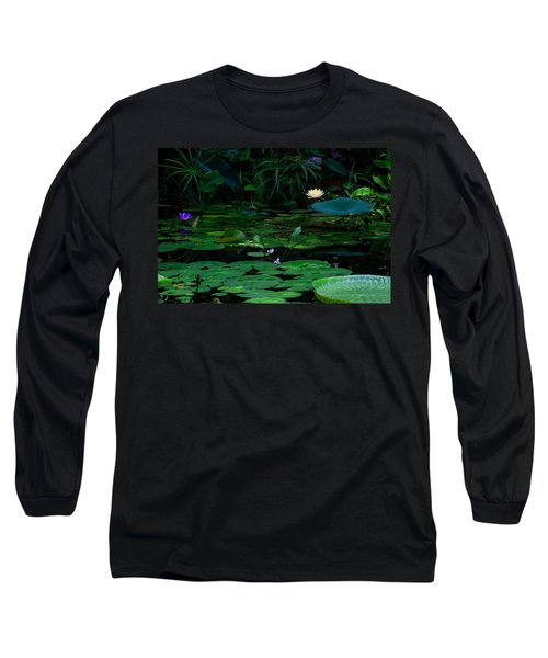 Water Lilies In The Pond Long Sleeve T-Shirt