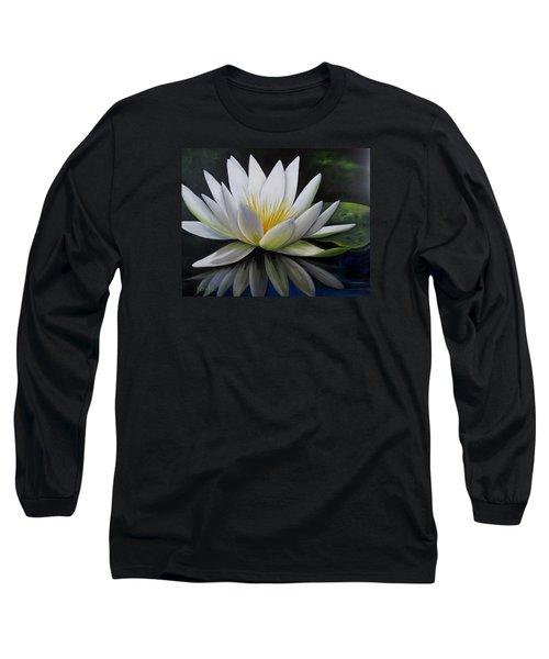 Water Lilly  Long Sleeve T-Shirt by Katia Aho