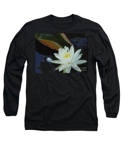 Water Lily Long Sleeve T-Shirt by Daun Soden-Greene