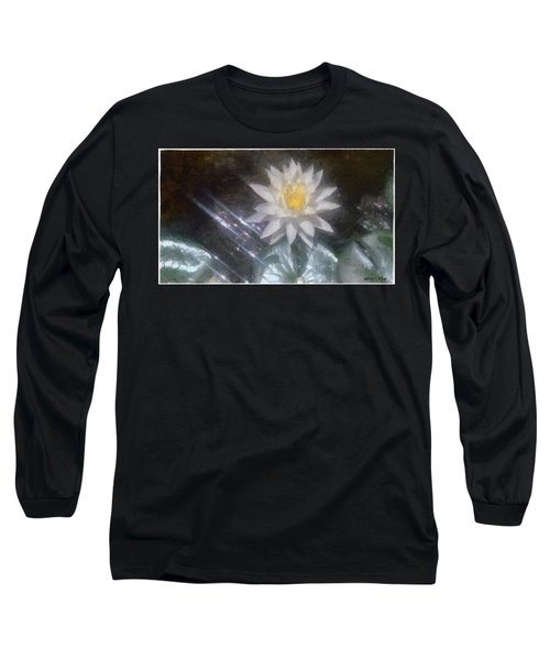 Water Lily In Sunlight Long Sleeve T-Shirt by Jeff Kolker