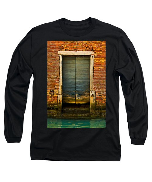 Water-logged Door Long Sleeve T-Shirt by Harry Spitz