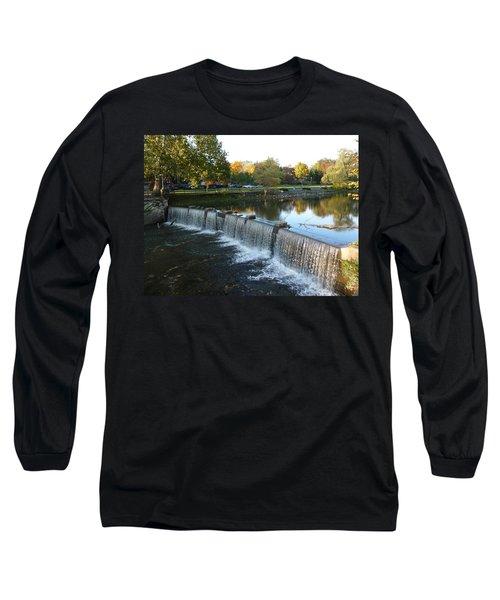 Long Sleeve T-Shirt featuring the photograph Water Over The Dam by Joel Deutsch