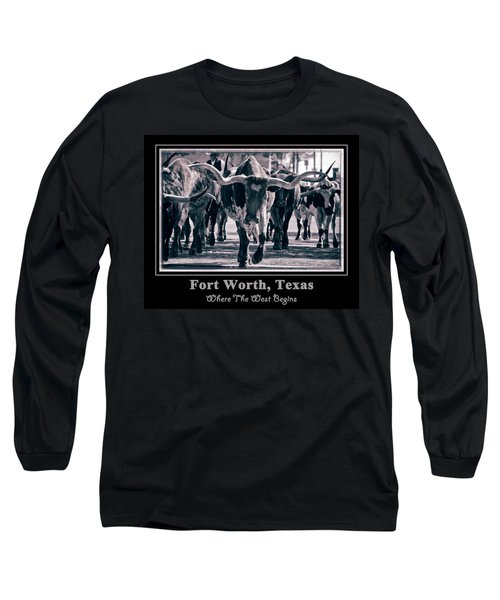 Watercolor Longhorns 2015 Long Sleeve T-Shirt