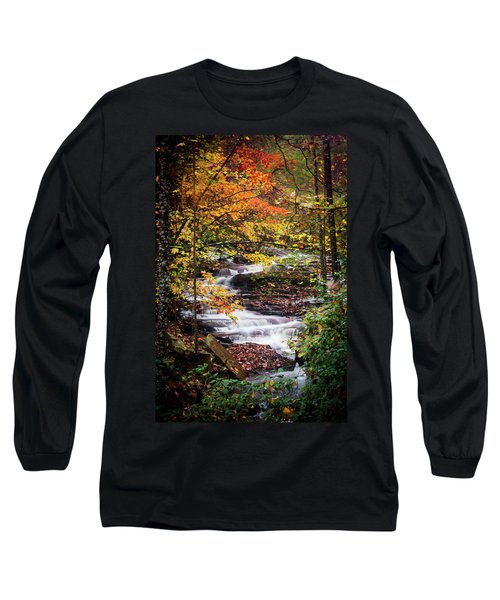Long Sleeve T-Shirt featuring the photograph Waterfall Kaleidoscope  by Parker Cunningham