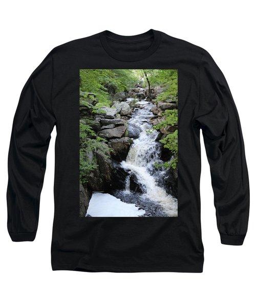 Waterfall Pillsbury State Park Long Sleeve T-Shirt