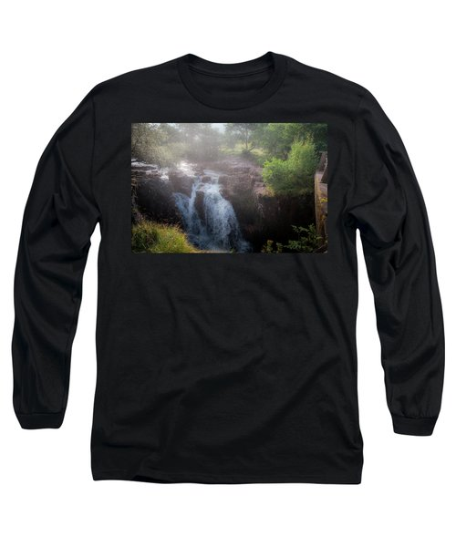 Waterfall Long Sleeve T-Shirt by Sergey Simanovsky
