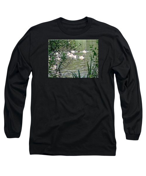 Waterfowl At The Park Long Sleeve T-Shirt by Mikki Cucuzzo