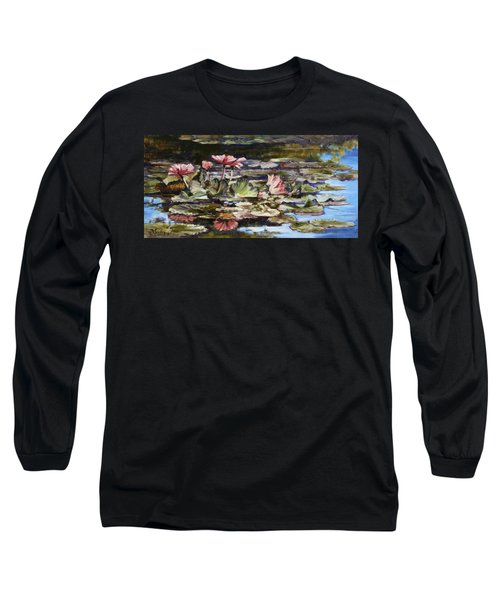 Waterlilies Tower Grove Park Long Sleeve T-Shirt by Irek Szelag