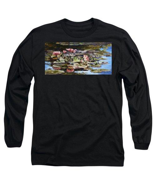 Waterlilies Tower Grove Park Long Sleeve T-Shirt