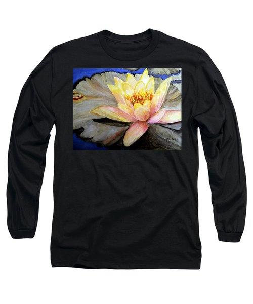 Long Sleeve T-Shirt featuring the painting Waterlily  by Carol Grimes