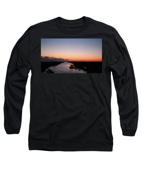Waterway Sunset #1 Long Sleeve T-Shirt