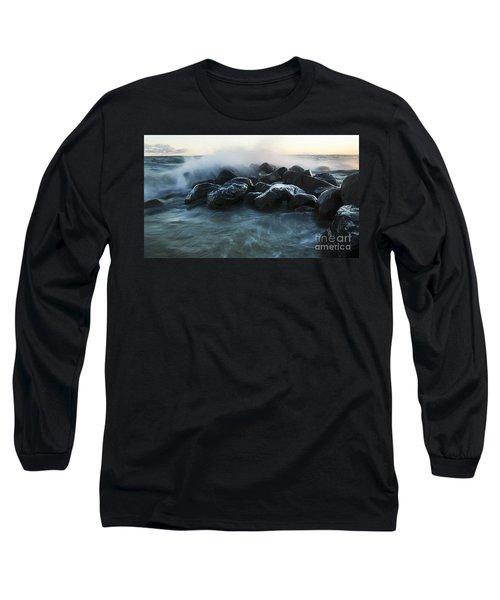 Wave Crashes Rocks 7959 Long Sleeve T-Shirt