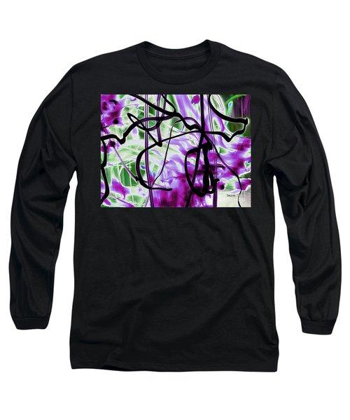Waves Of Purple Long Sleeve T-Shirt